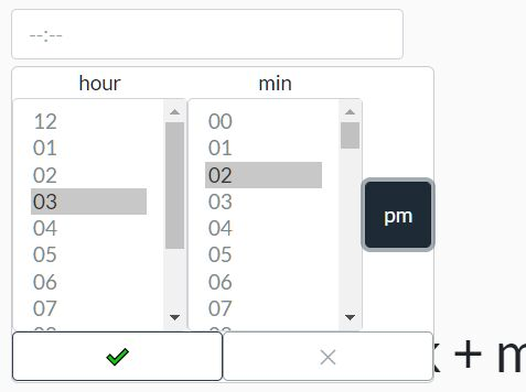 Customizable 12h/24h Time Picker For Bootstrap - Timepicker.js