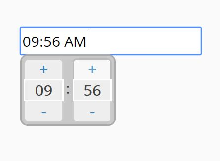 Time Picker With Mouse And Keyboard Interactions - jQuery timeSelector