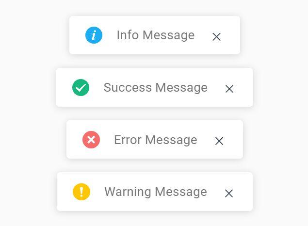 Minimal Customizable Toast Notification In jQuery - td-message