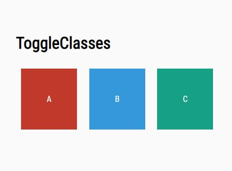 Toggle More Than Two CSS Classes Of An Element - toggleClasses.js