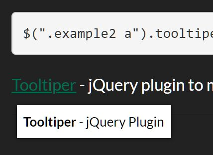 Create Custom Tooltips From Title Attribute - Tooltiper
