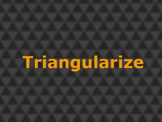 Create Retro Triangle Pattern Using jQuery - Triangularize.js