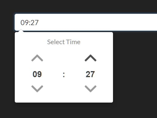 Tiny User-friendly Time Picker In jQuery