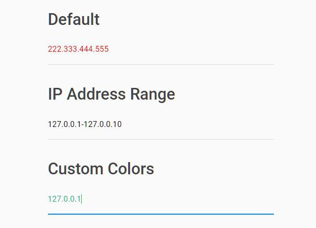 Validate IP Address In Input Field - jQuery IpInput