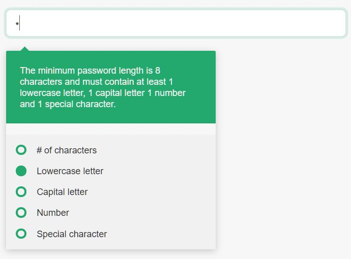 Validate Password Complexity With jQuery Password Requirements