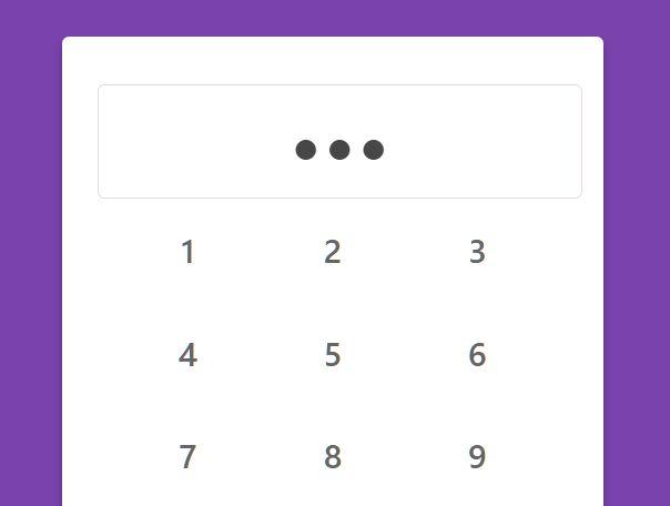 Minimal Keypad For Web & Mobile - PINpad