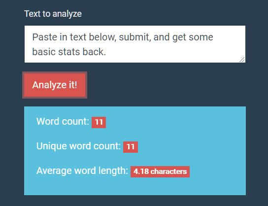 Calculate Word Count And Average Word Length - Text Analyzer