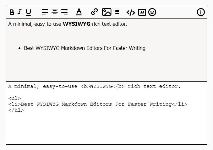 Minimal WYSIWYG Editor In jQuery - EasyEditor