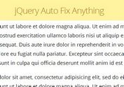 A Smart jQuery Plugin For Fixed Position Elements - Auto Fix Anything
