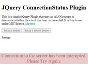 AJAX Based jQuery Internet Connection Status Plugin