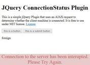 AJAX Based jQuery Internet Connection Status Plugin