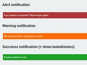 Minimal Accessible Notification Bar Plugin For jQuery - aria-notifications