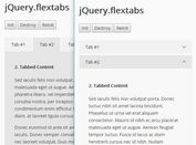 Adaptive Themeable Tabs Plugin - jQuery FlexTabs