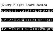 Airport Flight Board Text Effect with jQuery - flightboard