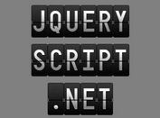 Airport-Like Text Flip Animation with jQuery and CSS3 - splitFlap
