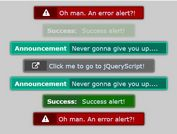 Easy Themeable Alert Notification Plugin With jQuery - Page Alert