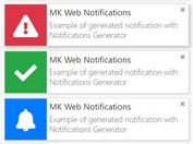 Desktop Notification Style Alert & Toast Message Plugin - MK Web Notifications