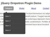 Animated Multi-level Dropdown Menu Plugin For jQuery - dropotron