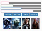 Animated Star Wars Progress Meter Plugin with jQuery - progressBarWars