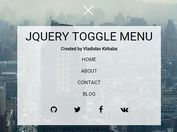 Animated Toggle Menu with jQuery and CSS / CSS3