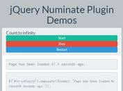 Animated jQuery Number Counter Plugin - Numinate