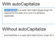 Auto Capitalize Sentences with jQuery autoCapitalize Plugin