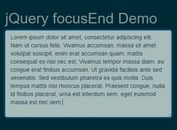 Auto Set Focus On Text Field Or Editable Element - jQuery focusEnd