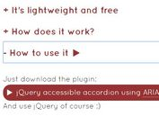 Basic Accessible Accordion Plugin For jQuery