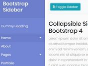 5 Cool Sidebar Navigtation Templates For Bootstrap 4/3