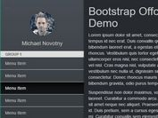 Tiny Bootstrap Off-canvas Navigation Plugin With jQuery