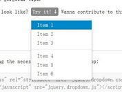 <b>Bootstrap-style jQuery Drop Down Plugin - dropdown</b>