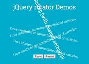 Configurable CSS Rotate Animation Plugin - jQuery rotator