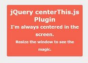 Centering Responsive Element with jQuery - centerThis.js
