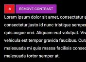 Change Font Size And Page Contrast - jQuery Accessibility Buttons