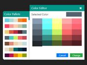 Pretty Color Picker With Preset Palettes - Jroot Color Picker
