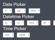 Combo Box Date & Time Picker Plugin With jQuery - Combodate