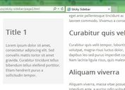 <b>Creating A Fixed Position Sidebar With jQuery Sticky Sidebar Plugin</b>