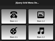Creating A Mobile Menu Grid with jQuery and jQuery Mobile - Grid Menu