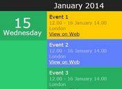 <b>Creating A Responsive Flat Event Calendar with jQuery Kalendar Plugin</b>
