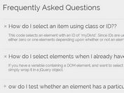 Creating An Accordion Style FAQ System with jQuery and CSS3