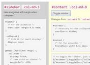 Creating Collapsible Bootstrap Sidebars with jQuery and CSS