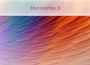Creating iOS Style Blur View Using jQuery And SVG Filters - bluroverlay.js