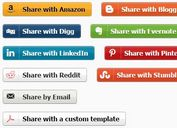 Custom Social Share Buttons / Links With jQuery - socialShare