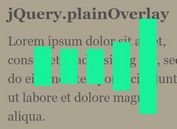 <b>Customizable Overlay Loading Screen With jQuery - plainOverlay</b>