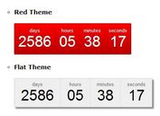 Customizable & Themeable jQuery Countdown Plugin - dsCountDown