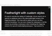 Customizable & Ultra-Light jQuery Lightbox Plugin - Featherlight