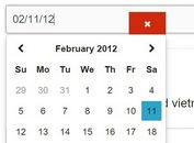 Customizable jQuery Date & Time Picker For Foundation Framework