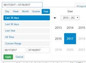 <b>Convenient Date Range Picker Plugin For jQuery - dateRangePicker</b>