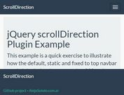 Detecting Scroll Direction With jQuery - scrollDirection