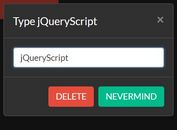 Double Confirmation Plugin With jQuery And Bootstrap - safe-delete